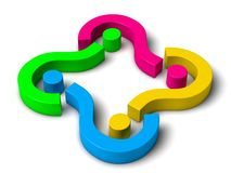 3d question marks Stock Image