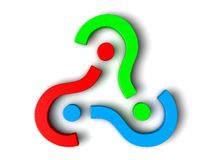 3d question marks. Sorted  circualy Royalty Free Stock Image