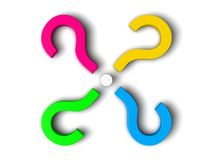 3d question marks. Sorted  circualy Royalty Free Stock Images