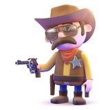 3d Quick draw cowboy Royalty Free Stock Photo