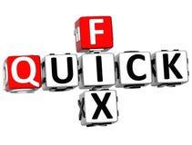 3D Quick Fix Crossword Stock Image