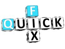 3D Quick Fix Crossword Stock Photos