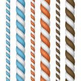 3d réaliste a détaillé la ligne ensemble de corde d'épaisseur Vecteur illustration stock