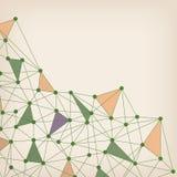 3D résumé Mesh Background avec des cercles, des lignes et des formes illustration stock