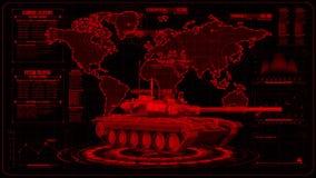 3D röd behållare HUD Interface Motion Graphic Element royaltyfri illustrationer
