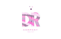 d r alphabet博士信件商标桃红色紫色线象模板vecto 库存图片