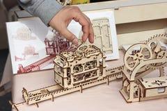 3d raadselstuk speelgoed Stock Afbeeldingen