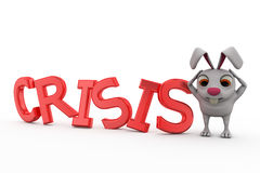 3d rabbit crisis concept Royalty Free Stock Image