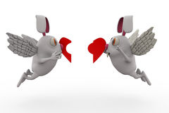 3d rabbit cupid concept Stock Images