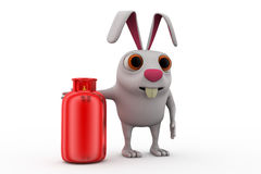 3d rabbit cylinder concept Stock Images