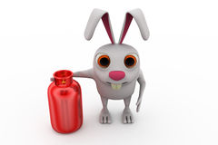 3d rabbit cylinder concept Royalty Free Stock Photo