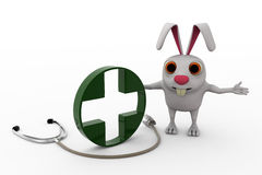 3d rabbit doctor concept Royalty Free Stock Photography