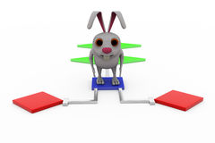 3d rabbit flow chart concept Royalty Free Stock Photography