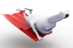 3d rabbit on flying carpet concept Royalty Free Stock Photo