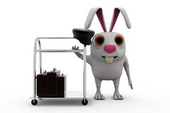 3d rabbit hotel concept Royalty Free Stock Photography