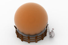 3d rabbit ladder to top concept Royalty Free Stock Photos