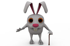 3d rabbit old concept Royalty Free Stock Image