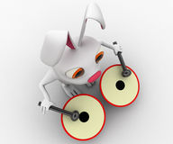 3d rabbit play musical drum concept Stock Photo
