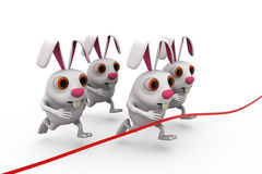 3d rabbit race concept Stock Images