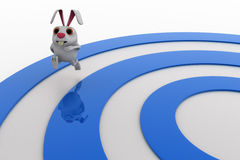 3d rabbit on race track concept Royalty Free Stock Photography