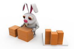 3d rabbit storage concept Royalty Free Stock Photos