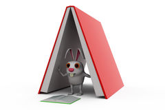 3d rabbit study pressure concept Royalty Free Stock Photos