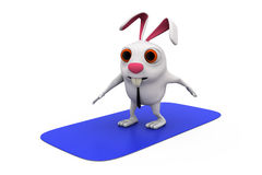 3d rabbit surf concept Stock Photo