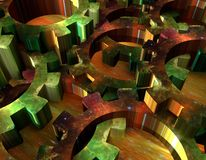 3d radertjewielen Stock Afbeelding