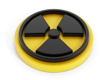3D radiation sign Royalty Free Stock Images