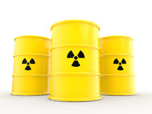 3d radiations symbol and barrels Stock Photos