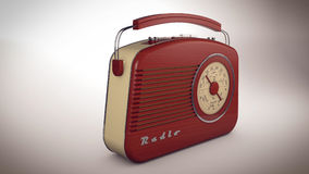 3D Radioontvanger Stock Afbeeldingen
