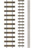 3d Railway tracks. 3d render of railway tracks Royalty Free Stock Image