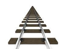 3d Railway tracks Stock Photo