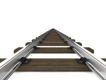 3d Railway tracks Royalty Free Stock Photo