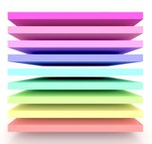 It is a 3d rainbow. Royalty Free Stock Photo