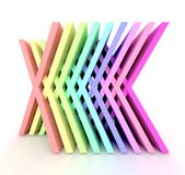 It is a 3d rainbow. Royalty Free Stock Photography