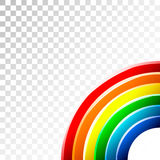 3D Rainbow. Rich and bright colors Royalty Free Stock Photography