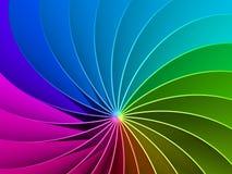 3d Rainbow Spectrum Background. 3d Colorful Rainbow Spectrum Background Royalty Free Stock Photos
