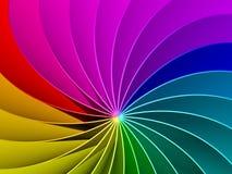 3d Rainbow Spectrum Background. 3d Colorful Rainbow Spectrum Background Stock Image