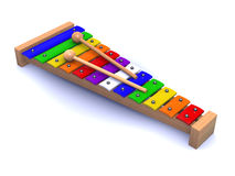 3d Rainbow xylophone Stock Images