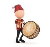 3d ramadan drummer Stock Images