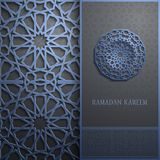 3d Ramadan Kareem greeting card,invitation islamic style.Arabic circle pattern.Islamic brochure Royalty Free Stock Image