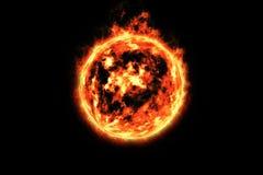 3d rappresentazione, bolide, fuoco ardente Illustrazione Vettoriale