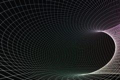 3d rappresentazione, linee della curva con fondo scuro illustrazione vettoriale