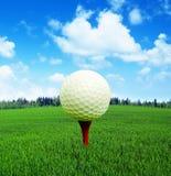 3D rappresentazione, palla da golf in fuoco, fotografia stock