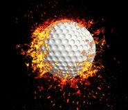 3D rappresentazione, palla da golf, fotografia stock libera da diritti