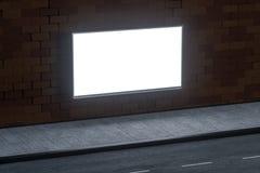 3d rappresentazione, tabellone per le affissioni di pubblicit? dal lato della strada illustrazione vettoriale