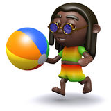3d Rasta beachball Royalty Free Stock Image