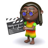 3d Rasta is making a movie Royalty Free Stock Photos