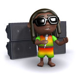 3d Rasta singer Royalty Free Stock Photos